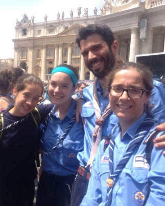 2 Scouts and a Warm Meeting with the Pope