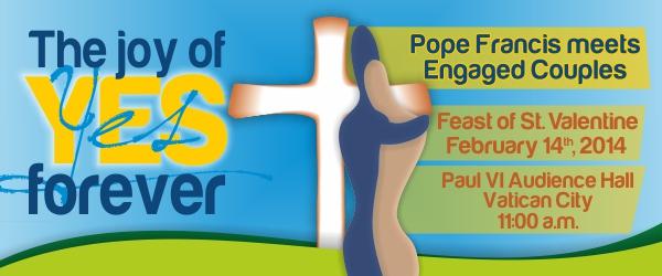 Pope & engaged coupled